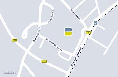 Lageplan Sitz Frankfurt (Oder)